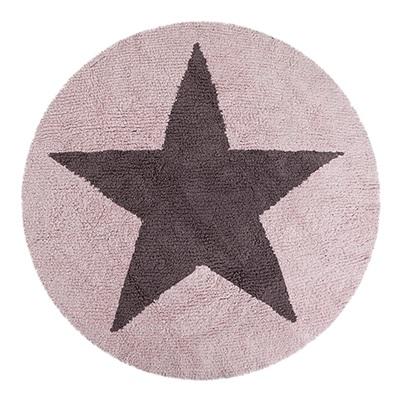 KIDS WASHABLE RUG in Reversible Star Design