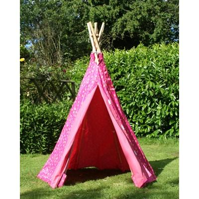 ... Pink-Heart-Wigwam-open-door-Garden-Games.jpg ...  sc 1 st  Cuckooland & CHILDRENu0027S PINK OUTDOOR WIGWAM PLAY TENT by Garden Games - Summer   Cu
