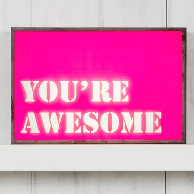 LIGHT BOX in You're Awesome Design