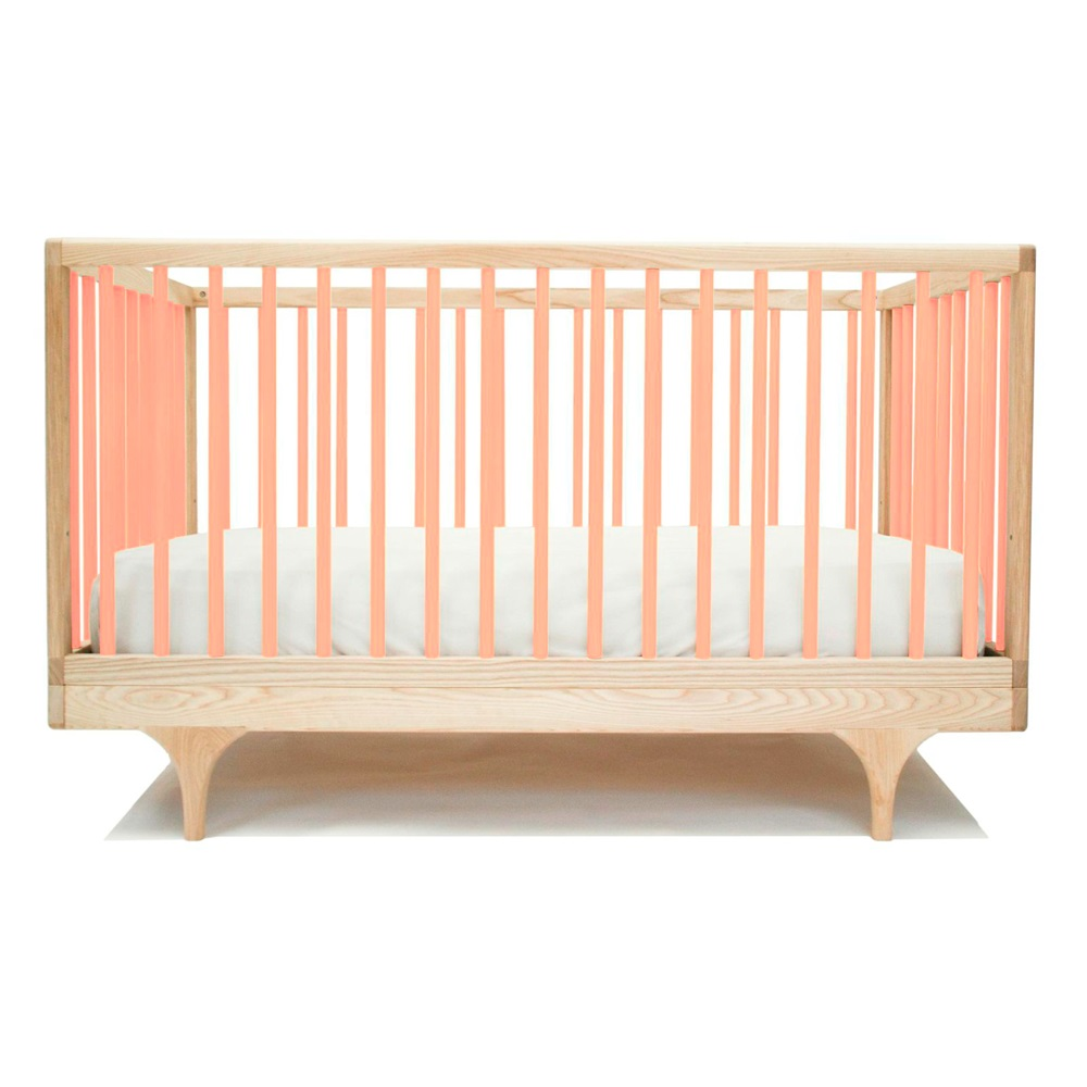 Pink Pine Baby Cot Crib Toddler Bed Kalon