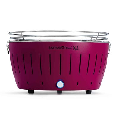 LOTUS GRILL XL BBQ in Plum with Free Lighter Gel & Charcoal