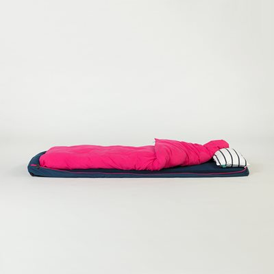BUNDLE BEDS ROLL UP GUEST BED in Navy and Pink