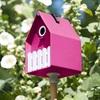 pink designer birdhouse