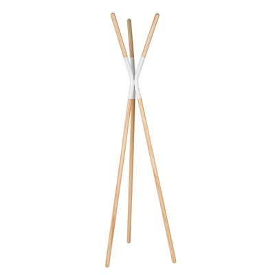 ZUIVER PINNACLE WOODEN COAT STAND in White