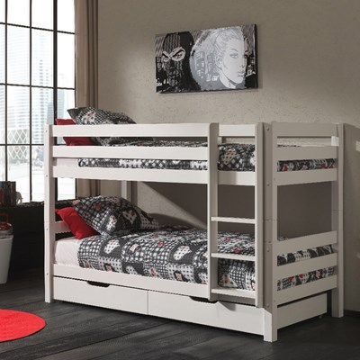 Pino Kids Bunk Bed In White Kids Beds Cuckooland