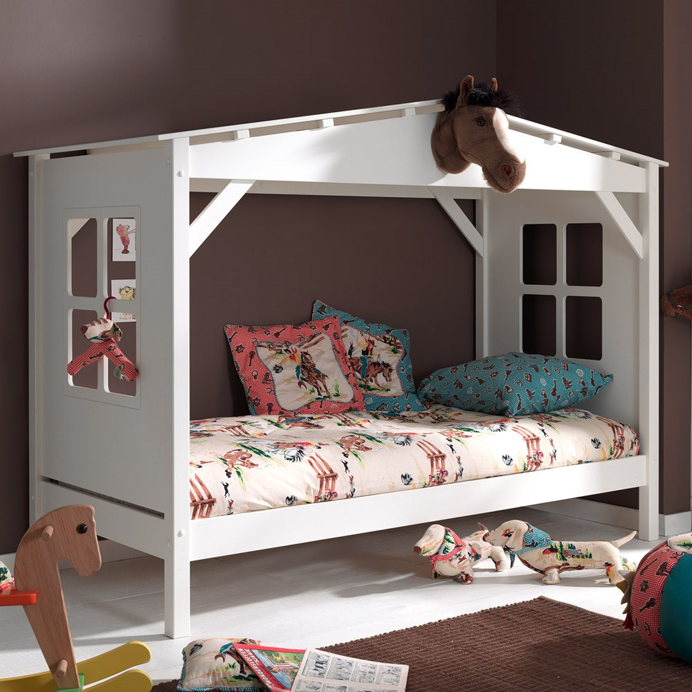 Pino House Cabin Bed In White - Kids Beds   Cuckooland