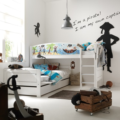 PIRATE CORNER BOYS BUNK BED