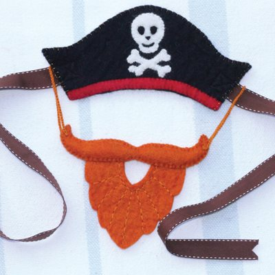 PIRATE HAT AND BUSHY BEARD CHILDRENS DRESSING UP SET