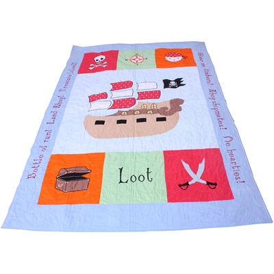 COT BED QUILT in Pirate Design