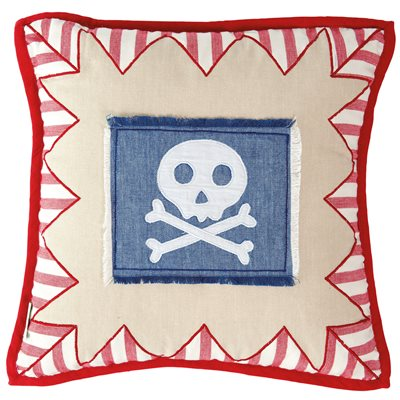 PIRATE SHACK Cushion Cover by Win Green