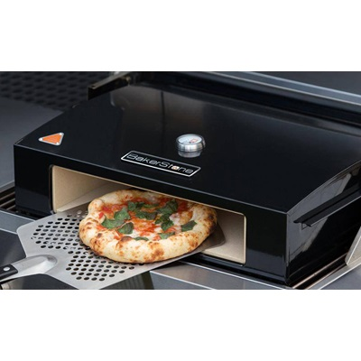 "BAKERSTONE 14"" PIZZA STONE BOX in Black Enamelled Steel"