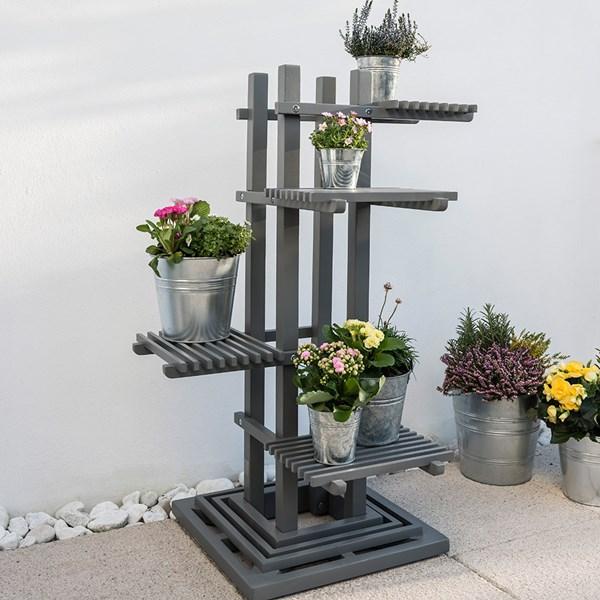 Grigio Square Plant Stand