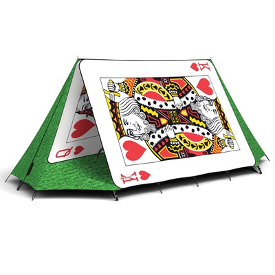 FIELDCANDY PLAYING CARDS 2 MAN FESTIVAL TENT