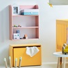 Kids Book and Storage Shelf in Yellow