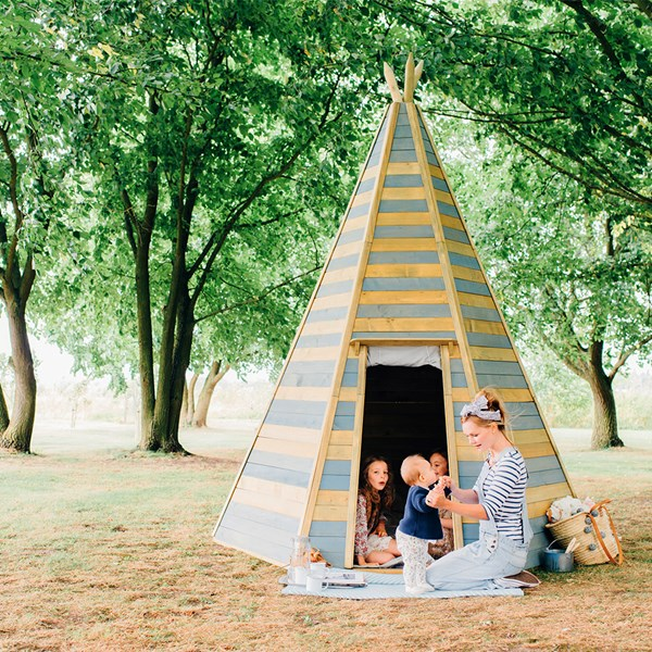 Plum Large Wooden Children's Teepee
