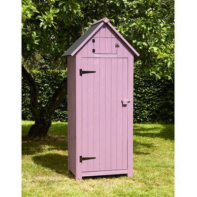 BEACH HUT TOOL SHED in Plum