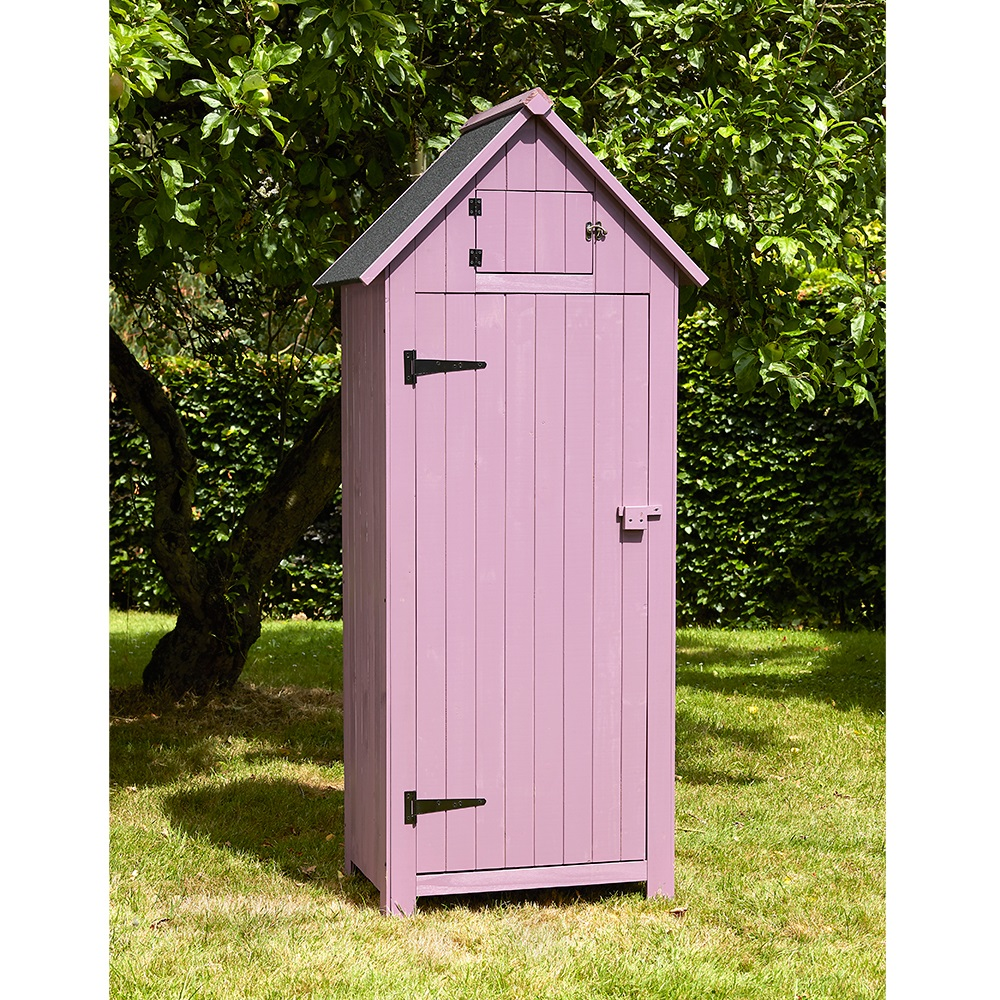 Beach hut tool shed in plum garden sheds cuckooland for Narrow garden sheds