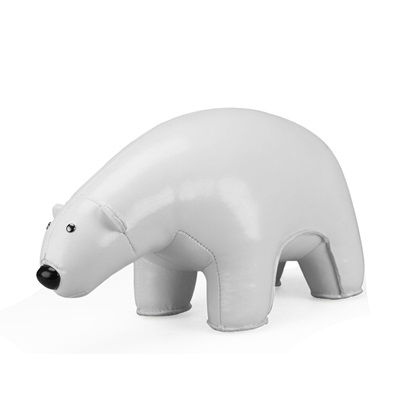 POLAR BEAR Animal Bookend by Zuny