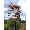 Pig Weathervane in Polished Copper 3D Design