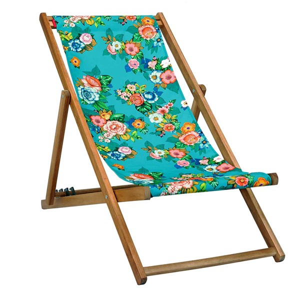 Polka Deck Chair in Turquoise