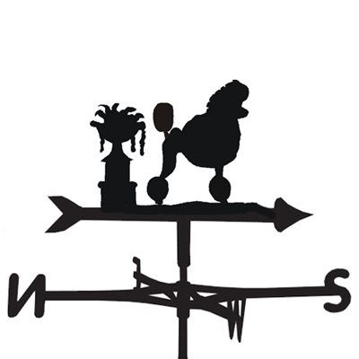WEATHERVANE in Poodle With Show Cut Design