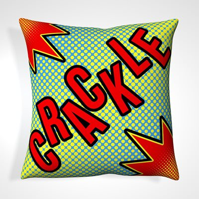 CUSHION in Retro Crackle Design