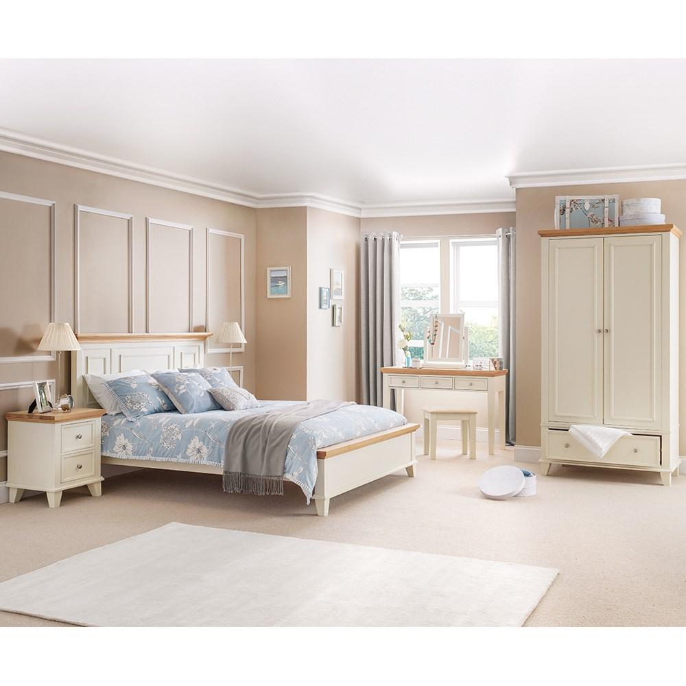 Portland Bed Frame In White And Oak By Julian Bowen