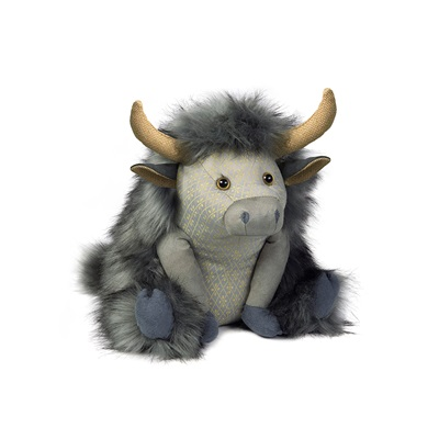 POSH ANGUS HIGHLAND COW Animal Doorstop
