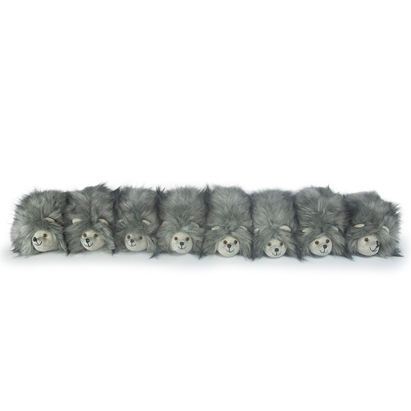 Posh Bertie Bristles Family Animal Draught Excluder