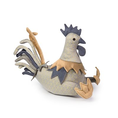 POSH MR COCKOLARUM COCKEREL Animal Doorstop