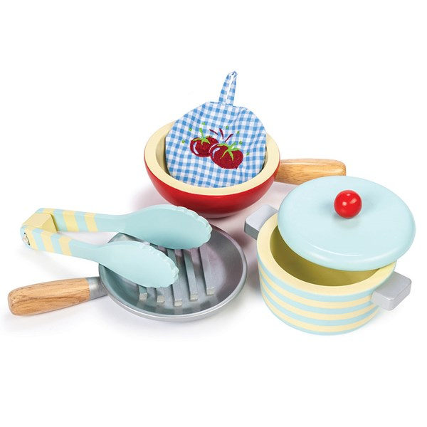 Le Toy Van Set of Pots and Pans for Play Kitchen