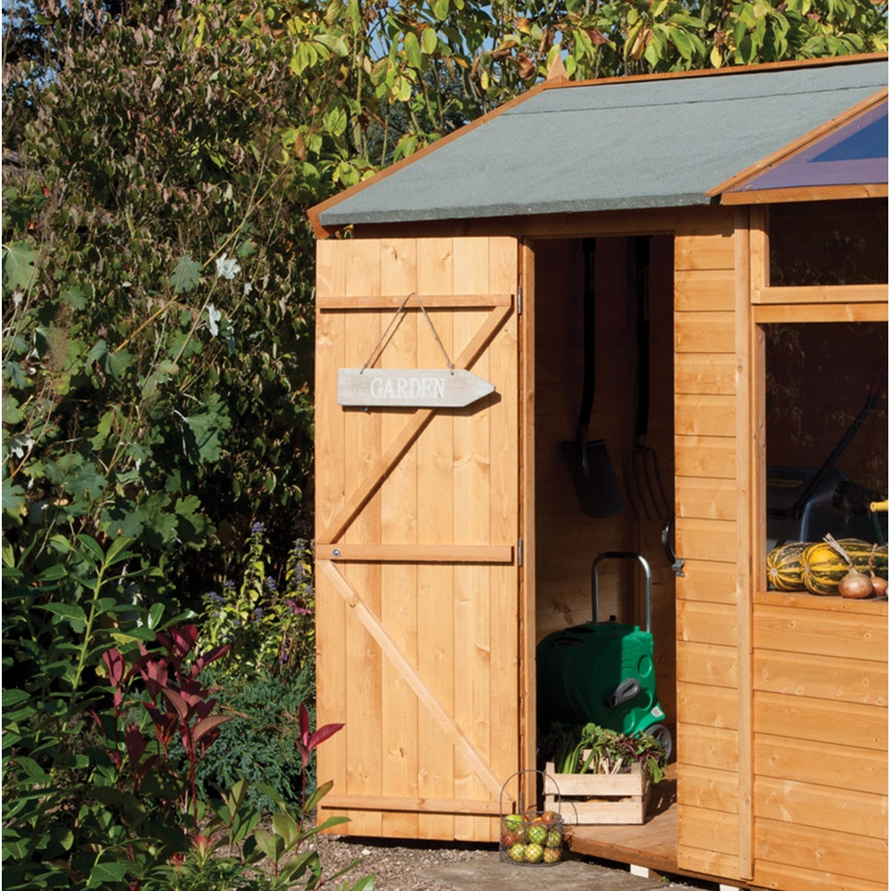 Garden potting store in honey brown greenhouses cuckooland for Garden shed gin