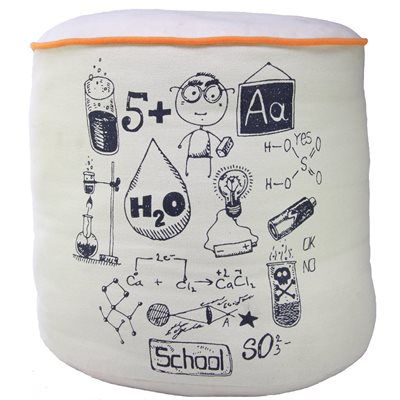 KIDS POUF CUSHION in Chemistry Design