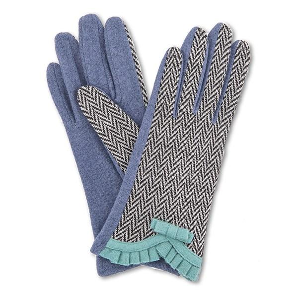Powder Victoria Wool Gloves in French Navy