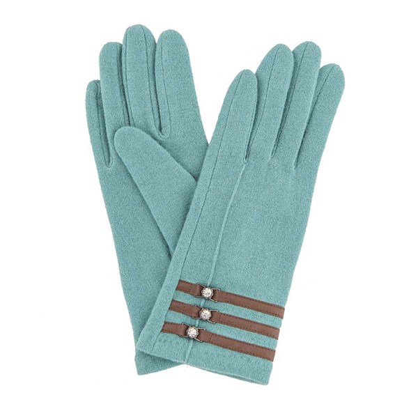 Powder Suzy Wool Gloves in Sea Green