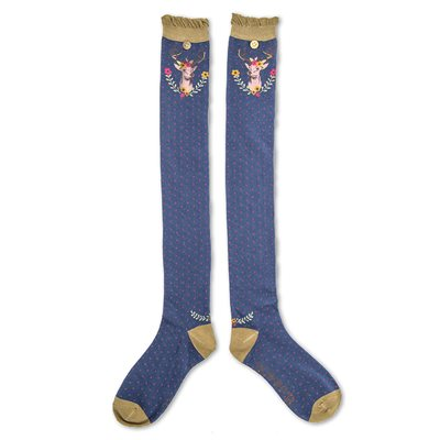 POWDER LONG STAG SOCKS in Navy