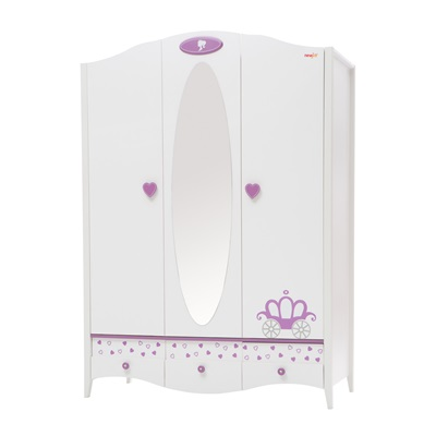 CHILDREN'S THREE DOOR WARDROBE in Newjoy Princess Design