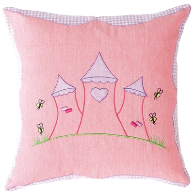 Princess Castle Cushion Cover by Win Green