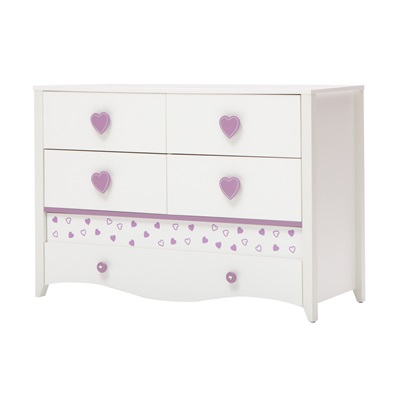 CHILDREN'S CHEST OF DRAWERS in Newjoy Princess Design