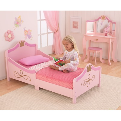Girls Princess Toddler Bed From Kidkraft With Dressing