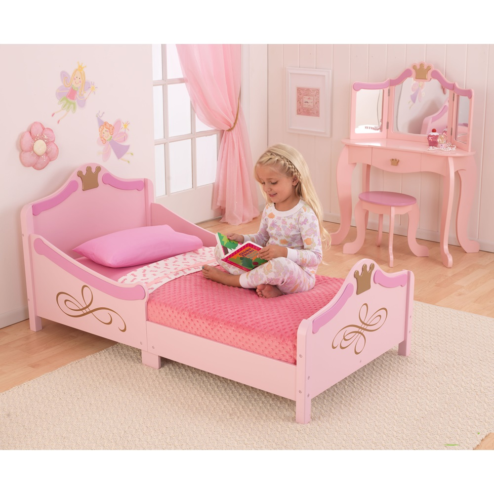 Toddlers beds for girls -  Princess Pink Girls Bed 2 Jpg