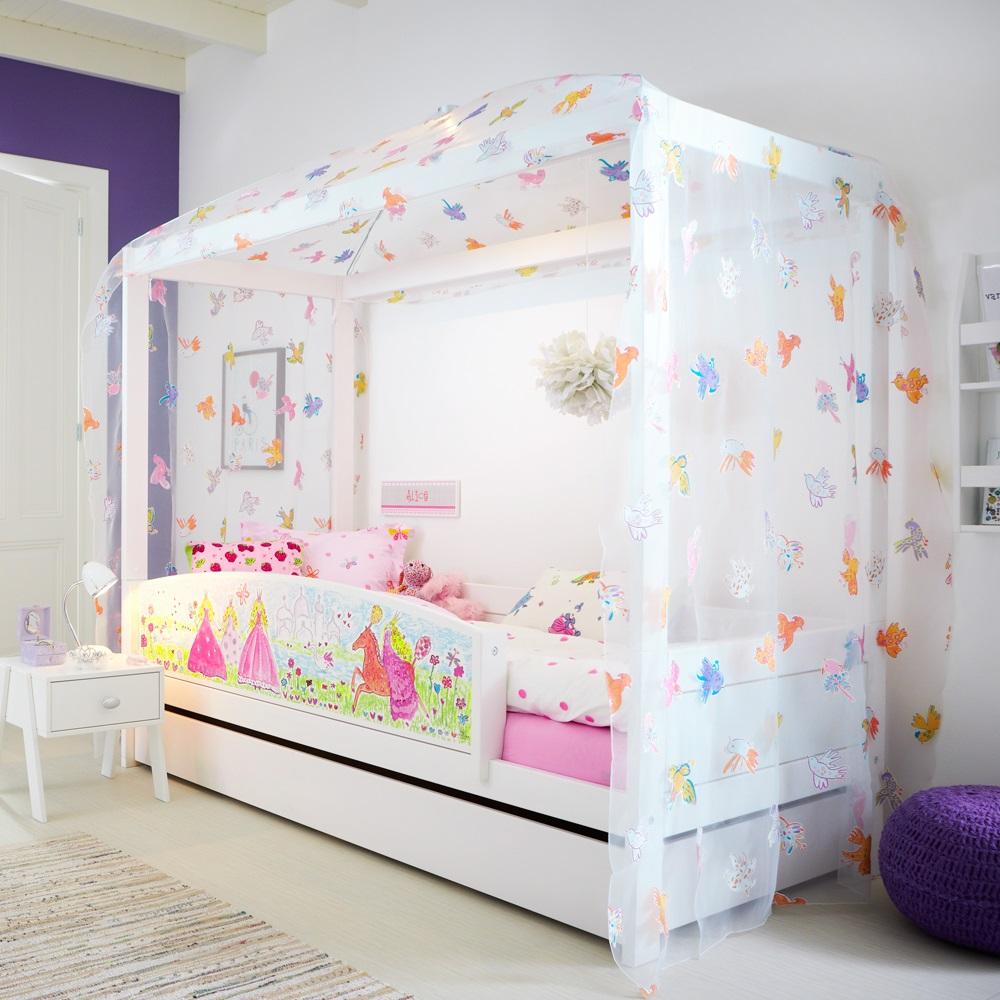 Princess 4 Poster Girls Bed