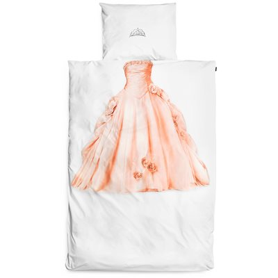 SNURK Childrens Princess Duvet Bedding Set in Pink