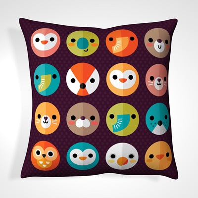 CUSHION in Retro Animal Design
