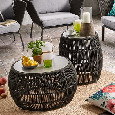 Program Rope Side Table in Dark Grey