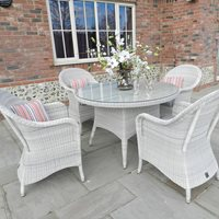 PROVANCE RATTAN TABLE AND CHAIRS by 4 Seasons Outdoor