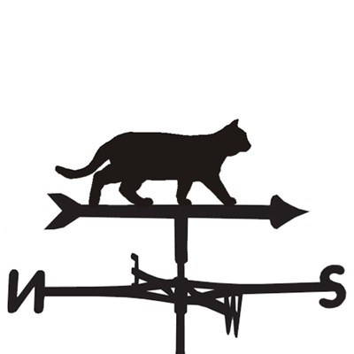Weathervane in Prowling Cat Design