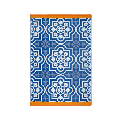 FAB HAB PUEBLA OUTDOOR RUG in Blue