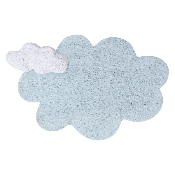 Blue and White Cloud Childrens Playmat
