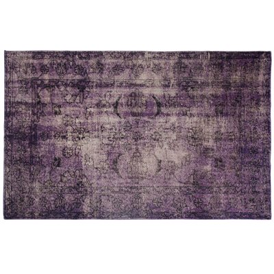 VINTAGE STYLE OVERDYED RUG in Purple